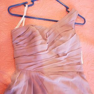 Davids Bridal Quarts One shoulder dress
